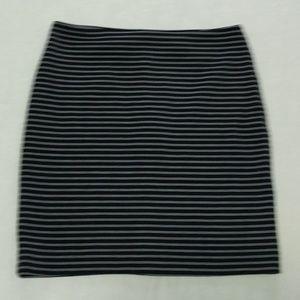 grey/black stripes knit pencil skirt